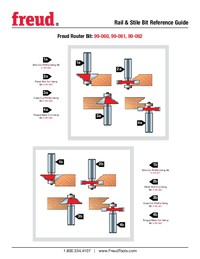 Freud 99-061  Ogee Router Bit For Rail And Stile Doors